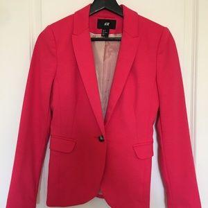 H&M Single Button Hot Pink Blazer US 4